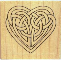 This cute Celtic Knot heart rubber stamp is from Etsy! Perfect for the backs of envelopes, or even invitations! (: