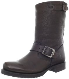 Ankle Boots women's fashion FRYE Women's Veronica Short Boot,Dark Brown Vintage Tumbled Full Grain,8 B (M) US FRYE