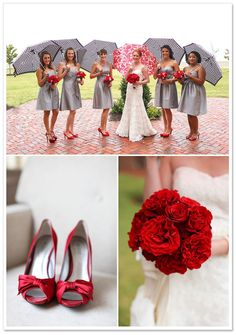 Grey and Red Wedding Inspiration