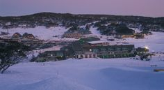 Perisher Valley, at night in the Snowy Mountains.
