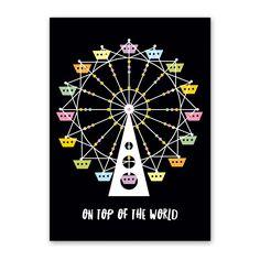 Rock Scissor Paper - Ferris Wheel Birthday Card, $3.95 (http://www.rockscissorpaper.com/ferris-wheel-birthday-card-1/)