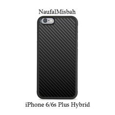 Carbon Fiber iPhone 6/6s PLUS HYBRID Case Cover