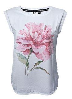 Catwalk Junkie | T-shirt | Painted Flower | off white