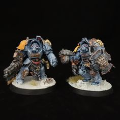Warhammer 40k Space Wolves Terminator Squad Professionally Painted Miniatures by PraiseworthyStudios on Etsy, $160.00