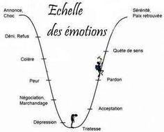 Échelle des émotions  Phase de deuil et reconstruction