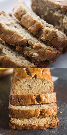Best Healthy Banana Bread Recipe, Banana Bread Recipe Video, Healthy Bread Recipes, Banana Bread Recipes, Mexican Food Recipes, Snack Recipes, Healthy Banana Cookies, Snacks, No Sugar Banana Bread