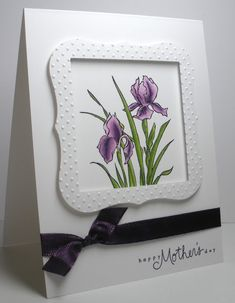 Think Outside the Box: Stamp TV flower challenge
