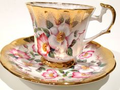 Elizabethan Tea Cup and Saucer Elizabethan English Bone China pink gold cups - Tea Set - Ideas of Tea Set - Elizabethan Tea Cup and Saucer Elizabethan English Bone China pink gold cups