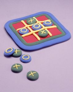 Tic - Tac - Toe... YOU WIN! Learn how to make an easy kids'€™ game out of Model Magic for hours of fun!