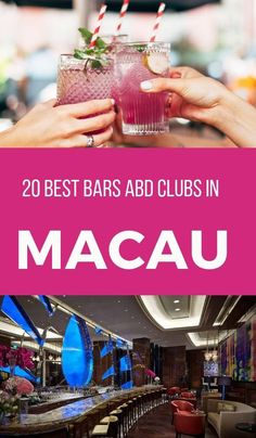 Macau Nightlife - 20 Cool Bars and Clubs. The Ritz Carlton bar is a sumptuous Macau bar and a luxurious spot for cocktails and drinks. #macau #coolbars #clubs #macautravel #nightlife #hotels #restaurants