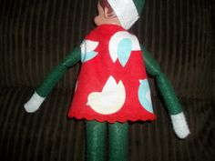 Christmas Elf doll shirt red with birds by on Etsy Christmas Elf Doll, Christmas Ornaments, Birds, Dolls, Trending Outfits, Holiday Decor, Unique Jewelry, Handmade Gifts, Shirt