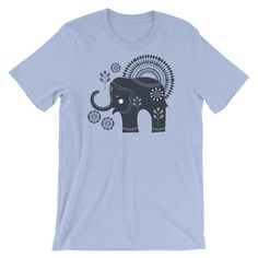 6d85a360 Bohemian Elephants from my15bohemianart Collection Short-Sleeve Unisex  T-Shirt