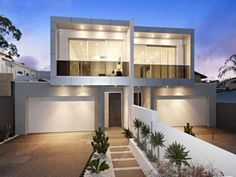 facade and garage door ideas