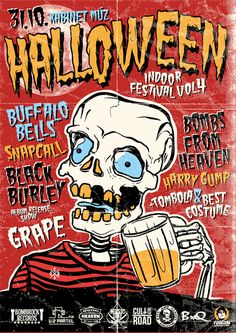 Halloween indoor festival volume 4 full of rock`n`roll and rockabilly music. Rockabilly Music, Festival Posters, Rock N Roll, Indoor, Halloween, Hot, Interior, Rock Roll, Halloween Stuff