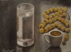 "Saatchi Art Artist ΑγγελικΗ Ageliki; Painting, ""Time for coffe"" #art"