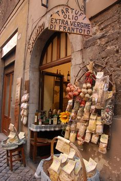 charming gourmet shop in the Umbria region of Italy