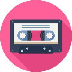 Audio, cassette, multimedia, music icon