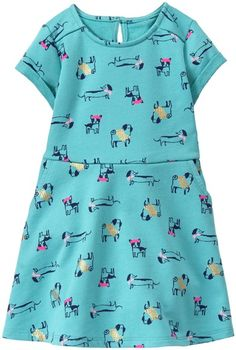 33de0eafc7b Gymboree Teal Puppy A-Line Dress - Infant