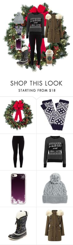 """""""Its getting closer"""" by cybersix ❤ liked on Polyvore featuring Improvements, John Lewis, New Look, Boohoo, Casetify, Rella, SOREL and Miss Selfridge"""