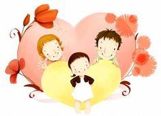 des enfants coréens s illustrateur psd matériau