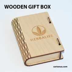 Wooden Gift box with bolt latch for Herbalife by cartonus.deviantart.com on @DeviantArt