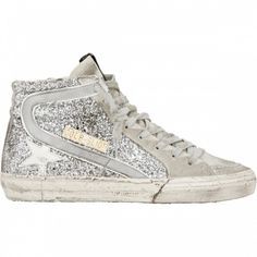 Golden Goose Deluxe Brand Slide Hi Couples Shoes Silber Weiß