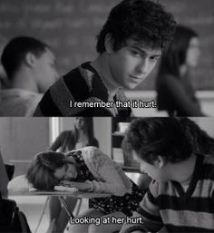 I remember that it hurt, looking at her hurt - Stuck in love