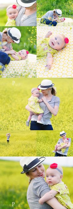 Mother & daughter photoshoot - nice setting to add dad in too ;-) Love the bright color.