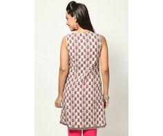 Sleeve Less Printed Pink Kurta : lamora.in/kurtis/sleeve-less-printed-pink-kurta.html?limit=100