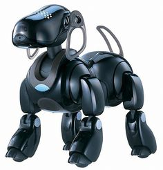 AIBO ERS 7 - Robot dog discontinued in 2005. The word AIBO comes from Artificial Intelligence roBOt and is also the Japanese word for 'Companion' or 'Friend.' #robotics #technology