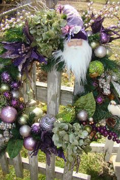 XL Victorian Chic Bling Christmas Santa by CottageGardenFlorals, $215.00