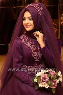 Latest Bridal Hijab Styles Dresses Designs Collection consists of Asian, desi fashion & Arabic fancy hijab dresses, gowns and frocks, maxis, etc Muslimah Wedding Dress, Hijab Style Dress, Muslim Wedding Dresses, Hijab Bride, Muslim Brides, Wedding Hijab, Bride Groom Dress, Muslim Dress, Girl Hijab