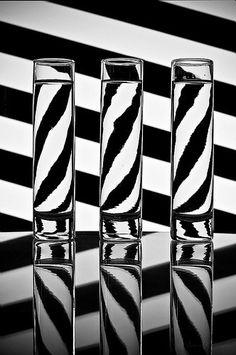 Opposite zebra stripes.