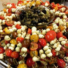 Heavy hors doeuvres menu ideas bing images anniversary party antipasti skewer stopboris Choice Image