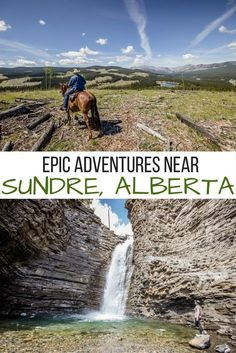 Epic outdoor adventures in and around Sundre, Alberta- including horseback riding, whitewater rafting, hiking, golfing and chasing waterfalls! Best Places To Travel, Places To See, Camping Places, Diy Camping, Camping Gear, Alberta Travel, Canada Destinations, Canadian Travel, Whitewater Rafting