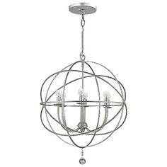 Over Tub  Solaris Chandelier by Crystorama at Lumens.com