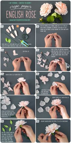 diy-crepe-paper-english-rose-tutorial-from-crafted-to-bloom-diy-paperflowers-craftedtobloom: