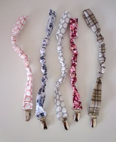 Fabric Pacifier or dummy clip
