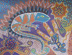 Aboriginal Art Lizard