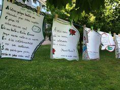 Promovido polo Servizo de Dinamización Lingüística de Ames, nestes días pódense ver polo concello tendais con poemas escritos en galego. Dende hai uns anos, con motivo do mes das Letras Galegas tod…