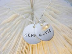 Two Little Name Necklace