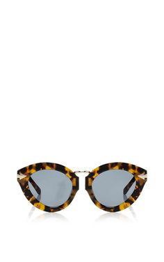 819ee63f4888 Lunar Flowerpatch Sunglasses by KAREN WALKER Now Available on Moda Operandi  Brown Glasses