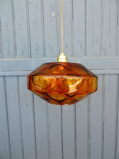 Vintage french, amber glass ceiling light Etsy £38.68