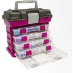 Creative Options Grab'n'Go Rack System, Small The Grab'n'Go Rack System by Creative Options combines drawer organization with utility boxes to give crafters and Handbag Storage, Handbag Organization, Room Organization, Handbag Organizer, Plastic Organizer, Racking System, Craft Storage, Storage Area, Storage Boxes