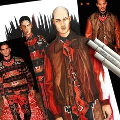 Paolo Roland for Givenchy Fall 2015 | Illustration by Paul Keng