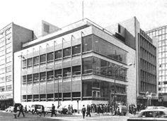 Av Juárez 86 esquina Balderas sucursal del Banco De México finales de 1950