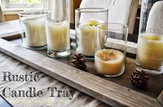 DIY Rustic Candle Tray - A Burst of Beautiful