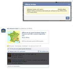 Facebook Offers: un primo esempio firmato Best Western Italia