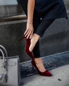7476878eaf06 BeautifulJewelry634Bridal Shoes · Burgundy Velvet Heels Red Velvet Heels