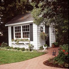 Stylish, Traditional Garden Shed